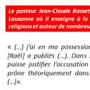 Pastor Jean-Claude Basset