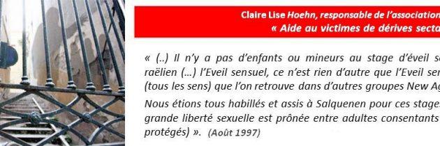 Claire Lise Hoehn – Association Aides aux victimes de dérives sectaires