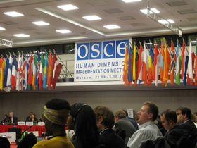 Délégation raëlienne à l'OSCE à Varsovie en 2014